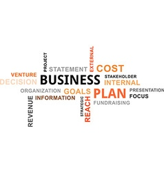 Word cloud business plan vector