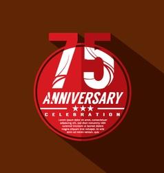 75 years anniversary celebration design vector