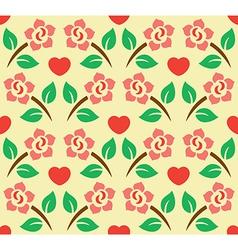 Flower Decoration Pattern 4 vector image