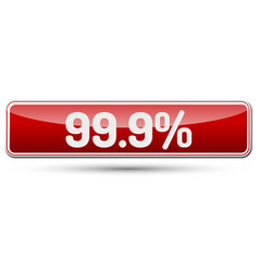 999 percent - abstract beautiful button with text vector