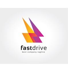 Abstract colored logo icon concept Logotype vector image