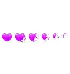 Bubble burst sprites for animation vector