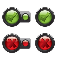 Check mark icon buttons vector image vector image