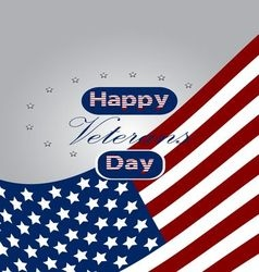 Colored background with text for veterans day vector image vector image