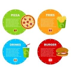 Fast food cafe menu vector
