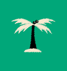 flat icon design collection palm tree vector image vector image