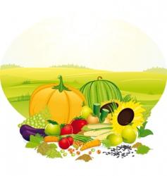 fresh crop vector image
