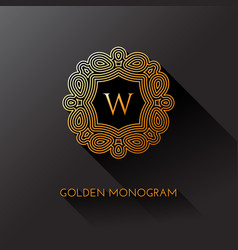 Golden monogram vector