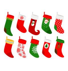 hanging christmas socks vector image vector image