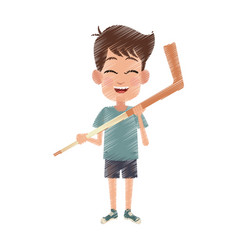 Happy young boy icon image vector