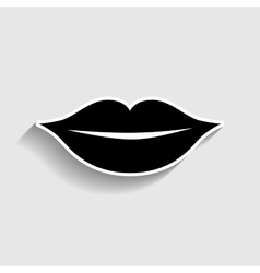 Lips sign Sticker style icon vector image