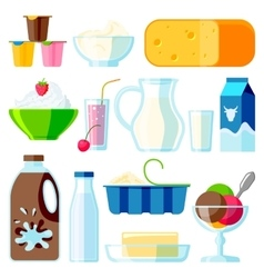 Milk products vector image vector image