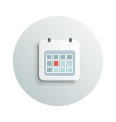 Modern calendar business concept vector image
