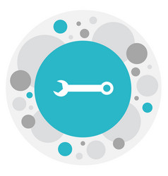 of equipment symbol on wrench vector image