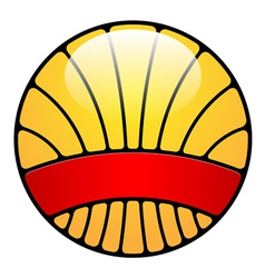 orange badge vector image