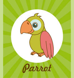 Pet design over green background vector