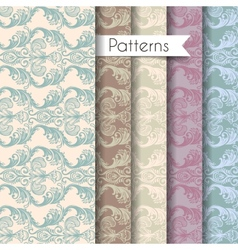 Seamless patterns set eps 10 vector image