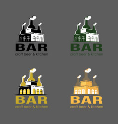 set of beer logo loft bar vector image