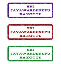 sri jayawardenepura kotte watermark stamp vector image vector image