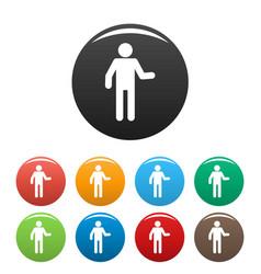 Stick figure stickman icons set pictogram vector