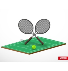 Symbol of a tennis game and court vector image