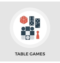 Table games flat icon vector