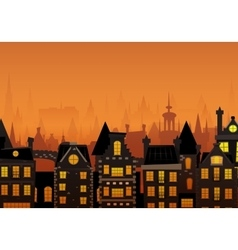 the night city vector image