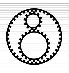 three gears icon vector image vector image