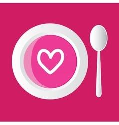 valentine soup vector image