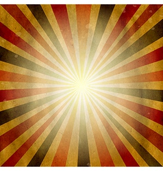 Vintage Square Shaped Sunburst vector image vector image