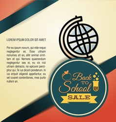 With backtoschool and earth globe vector