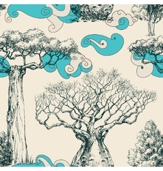 Woods seamless pattern nature print vector