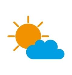 sunny cloud sun weather vector image
