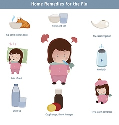 Home remedies for the flu vector