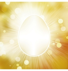 Easter frane egg greeting card EPS 10 vector image