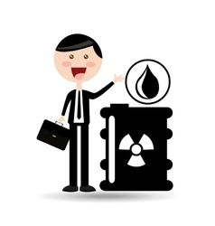 Businessman oil concept radioactive material vector