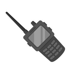 handheld transceiver icon in monochrome style vector image