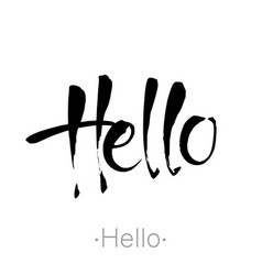 hello handdraw lettering vector image