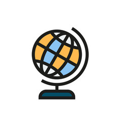 Globe icon on white background vector