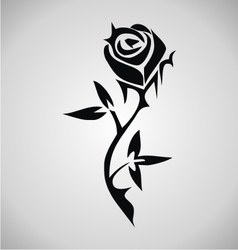 Tribal rose tattoo vector