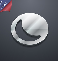 Moon icon symbol 3d style trendy modern design vector