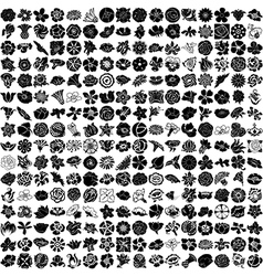 256 - set of flowers vector