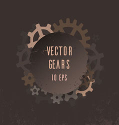 Cover with gears vector