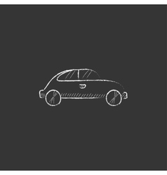 Car drawn in chalk icon vector