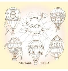 Air balloons backgr-14 vector