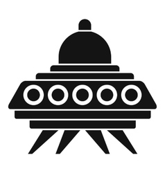 Alien spaceship icon simple style vector image