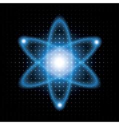 Background atomic model vector