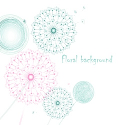 Background with dandelions vector