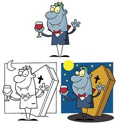 Cartoon monster design vector image vector image