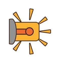 Cartoon warning alarm alert security system work vector